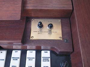Picture of brass start/run switch