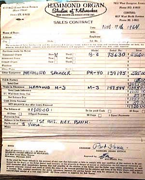 Photo of the original bill of sale